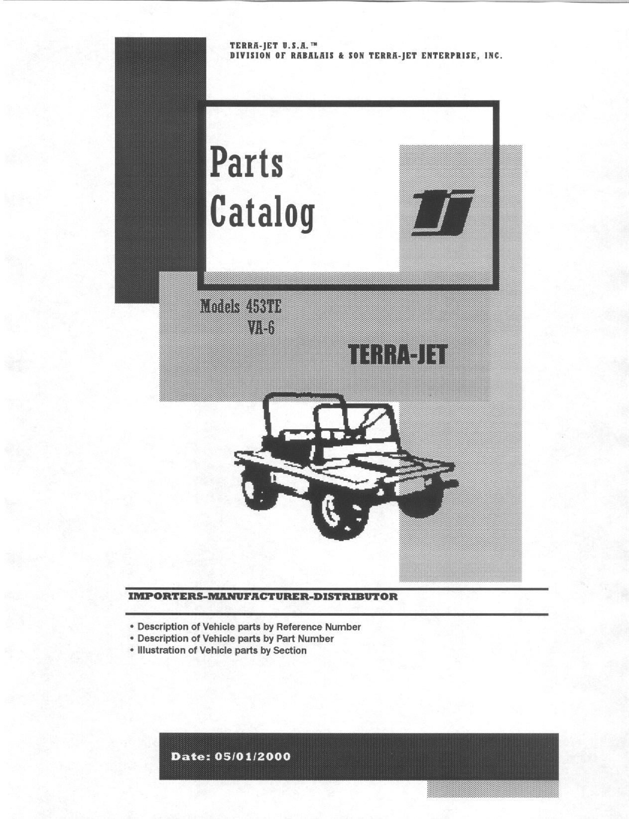 Terra-Jet Parts Catalogs