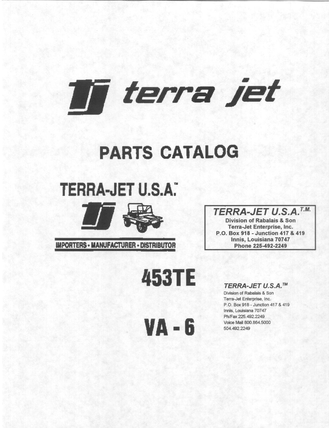Terra-Jet Parts Price List